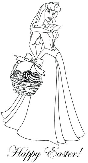 Disney Easter Coloring Pages 5