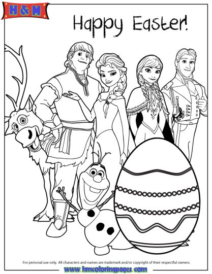 Disney Easter Coloring Pages Part 7