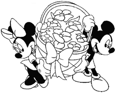 Disney Easter Coloring Pages 62