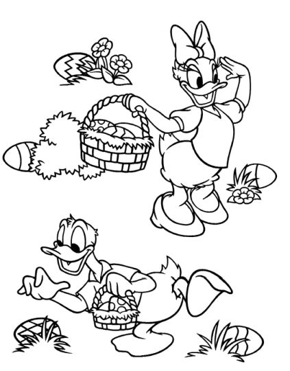 Disney Easter Coloring Pages 8