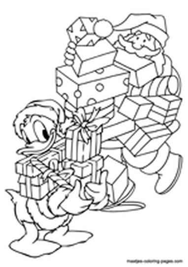Donald Duck Christmas Coloring Pages 27