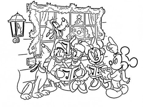 Donald Duck Christmas Coloring Pages 4