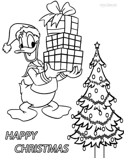 Donald Duck Christmas Coloring Pages 40