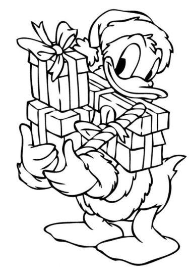 Donald Duck Christmas Coloring Pages 47