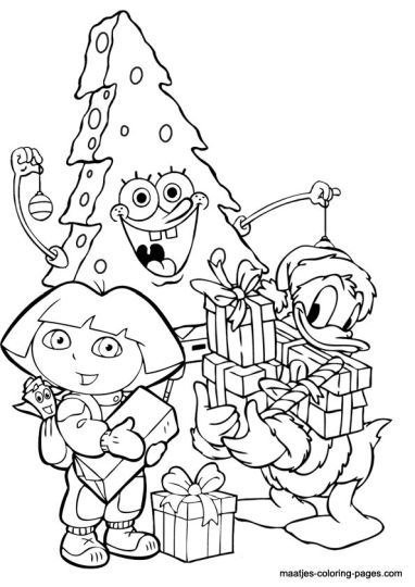 Donald Duck Christmas Coloring Pages 9