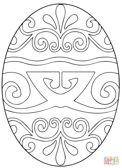 Easter Egg Coloring Pages For Adults 1