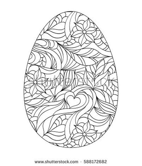 Easter Egg Coloring Pages For Adults 10