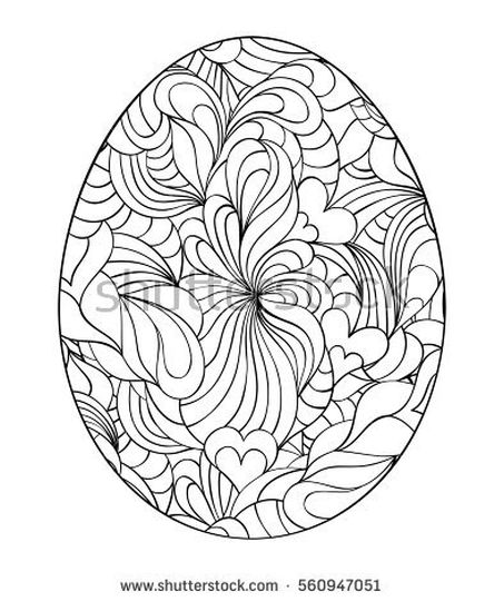 Easter Egg Coloring Pages For Adults 11
