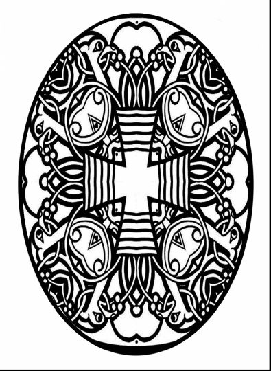 Easter Egg Coloring Pages For Adults 15