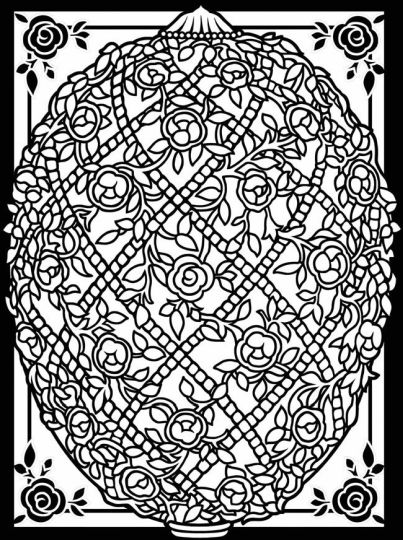 Easter Egg Coloring Pages For Adults 17