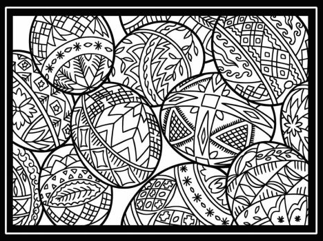 Easter Egg Coloring Pages For Adults 18