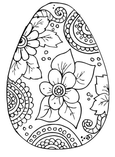 Easter Egg Coloring Pages For Adults Part 3