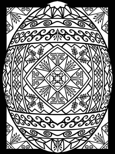 Easter Egg Coloring Pages For Adults 22