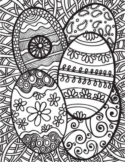 Easter Egg Coloring Pages For Adults 25
