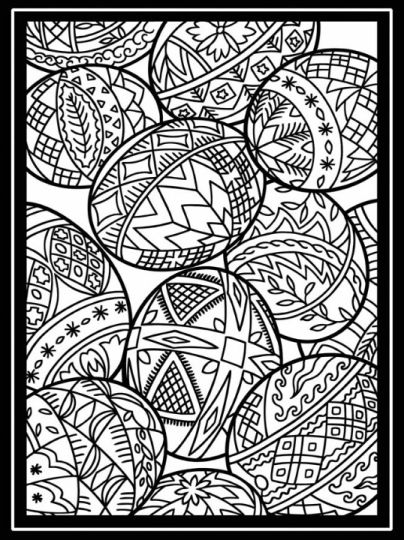 Easter Egg Coloring Pages For Adults 27