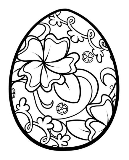 Easter Egg Coloring Pages For Adults 28