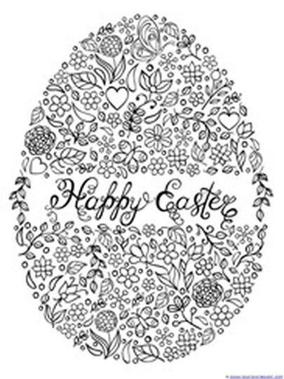 Coloring Pages For Adults Easter Eggs : Easter egg coloring pages for adults part