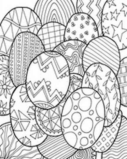 Easter Egg Coloring Pages For Adults 31