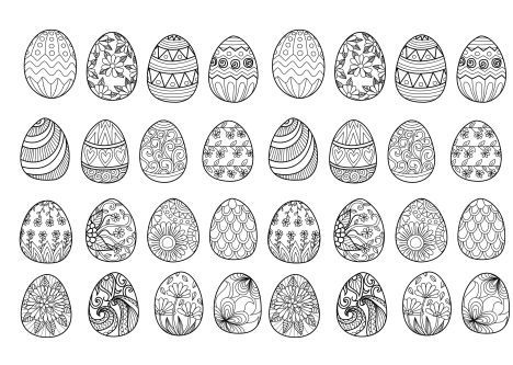 Easter Egg Coloring Pages For Adults 33