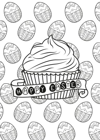 Easter Egg Coloring Pages For Adults 34