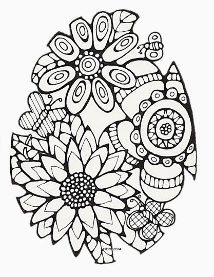 Easter Egg Coloring Pages For Adults 38