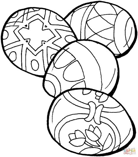 Easter Egg Coloring Pages For Adults 39