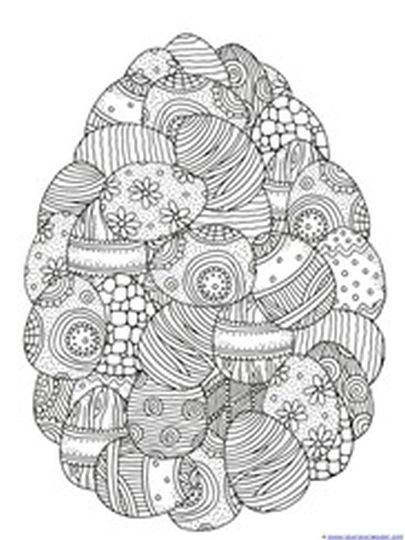 Easter Egg Coloring Pages For Adults 4