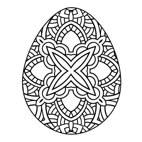 Easter Egg Coloring Pages For Adults 43