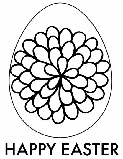 Easter Egg Coloring Pages For Adults 46