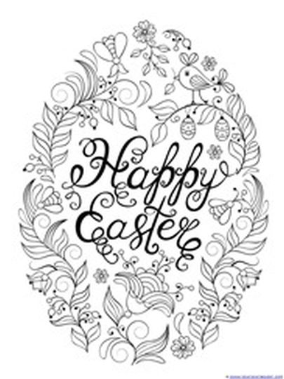 Easter Egg Coloring Pages For Adults 5