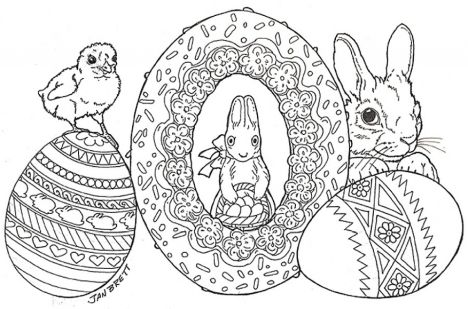 Easter Egg Coloring Pages For Adults 52