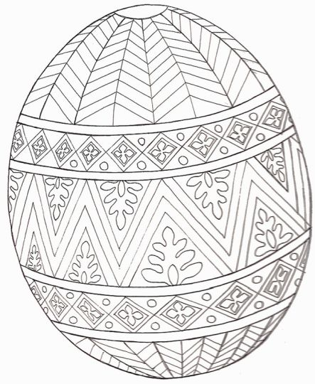 Easter Egg Coloring Pages For Adults 6