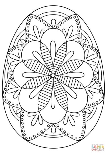 Easter Egg Coloring Pages For Adults 60
