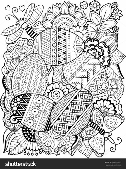 Easter Egg Coloring Pages For Adults 62