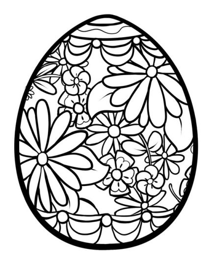 Easter Egg Coloring Pages For Adults 65
