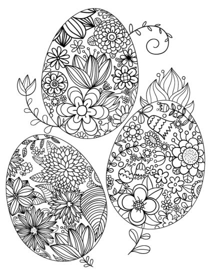 Easter Egg Coloring Pages For Adults 66