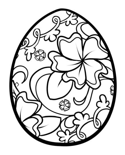 Easter Egg Coloring Pages For Adults 67