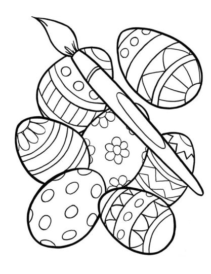 Easter Egg Coloring Pages For Adults 7