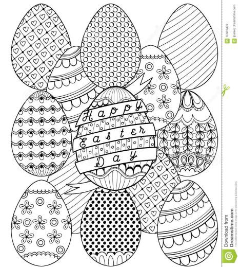 Easter Egg Coloring Pages For Adults 75