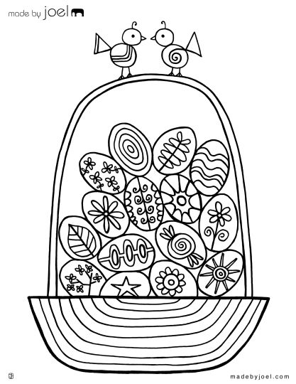 Easter Egg Coloring Pages For Adults 77
