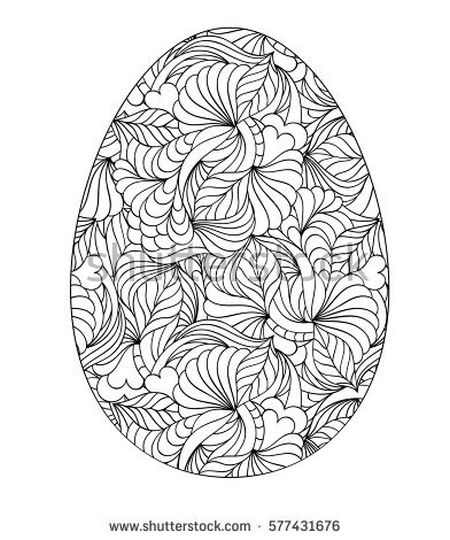Easter Egg Coloring Pages For Adults 8