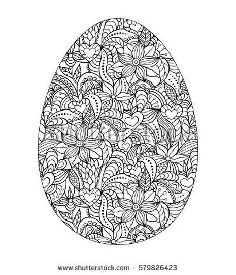 Easter Egg Coloring Pages For Adults 9