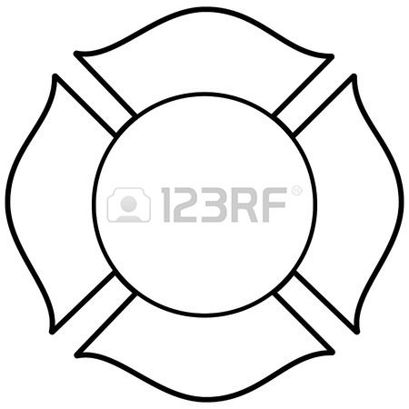 Fire Department Maltese Cross Coloring Page 11