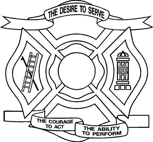 Fire Department Maltese Cross Coloring Page 12
