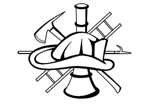 Fire Department Maltese Cross Coloring Page 13