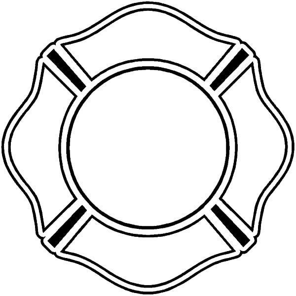Fire Department Maltese Cross Coloring Page 15