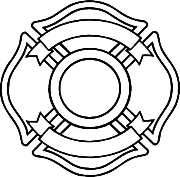 Fire Department Maltese Cross Coloring Page 16