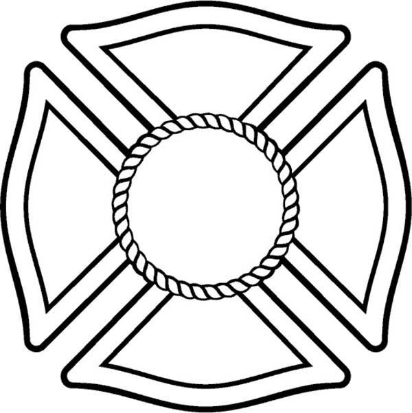 Fire Department Maltese Cross Coloring Page 17