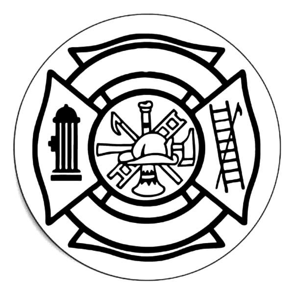 Fire Department Maltese Cross Coloring Page 21