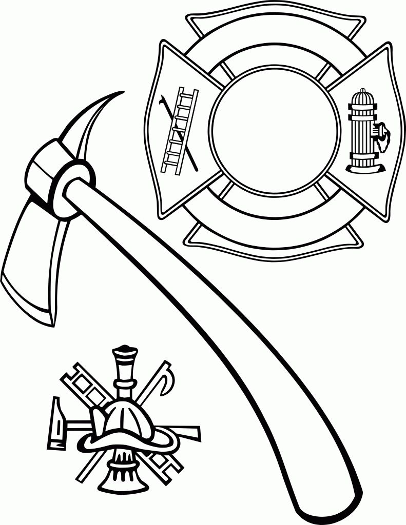 Fire Department Maltese Cross Coloring Page 22